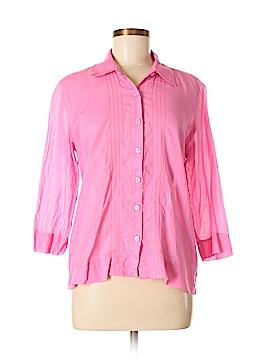 Sigrid Olsen Sport 3/4 Sleeve Button-Down Shirt Size M