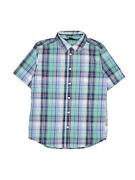 Wrangler Jeans Co Short Sleeve Button-Down Shirt Size L (Kids)