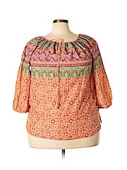 Ralph Lauren Women 3/4 Sleeve Blouse Size 1X (Plus)