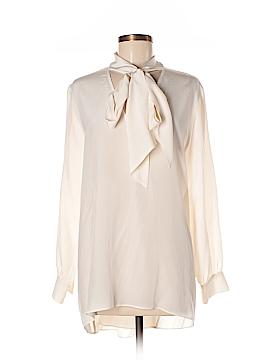 Rachel Zoe Long Sleeve Silk Top Size M