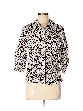Metrostyle 3/4 Sleeve Button-Down Shirt Size 4
