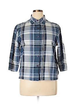 Cabin Creek 3/4 Sleeve Button-Down Shirt Size L