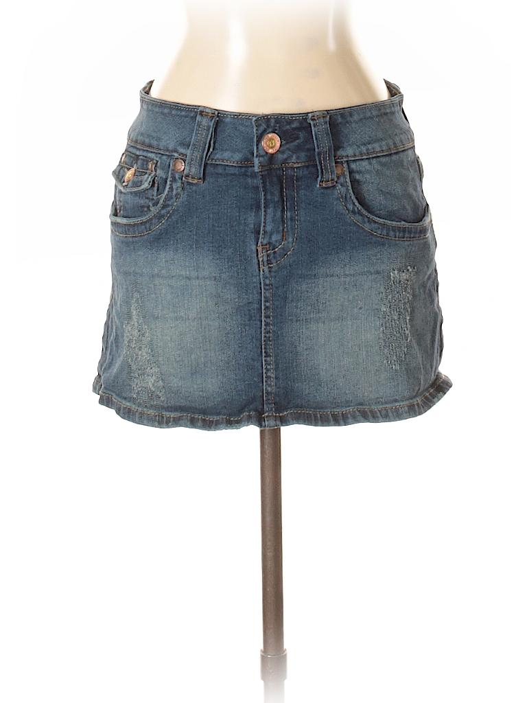 2cce7a295 Hydraulic Solid Dark Blue Denim Skirt Size 5 - 6 - 66% off   thredUP