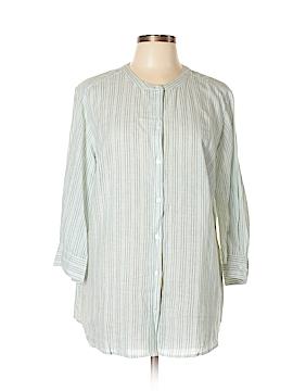 Lane Bryant 3/4 Sleeve Button-Down Shirt Size 14 - 16 Plus (Plus)