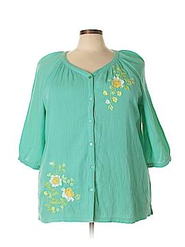 D&Co. 3/4 Sleeve Blouse Size 2X (Plus)