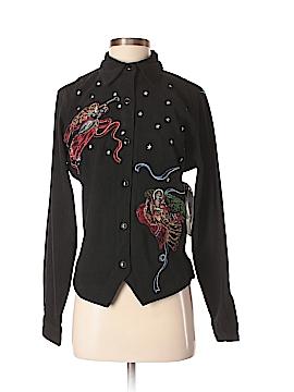 Bill Blass Long Sleeve Button-Down Shirt Size S