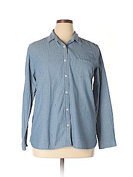Weatherproof Long Sleeve Button-Down Shirt Size XL