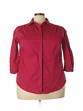 Millenium 3/4 Sleeve Button-Down Shirt Size 3X (Plus)