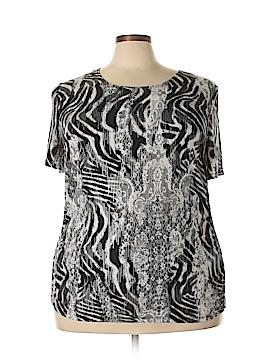 Peter Nygard Short Sleeve T-Shirt Size 2X (Plus)
