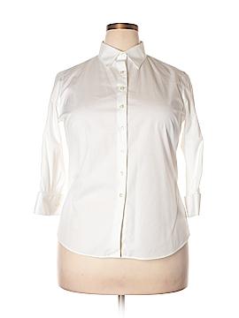 Lands' End 3/4 Sleeve Button-Down Shirt Size 16 (Petite)