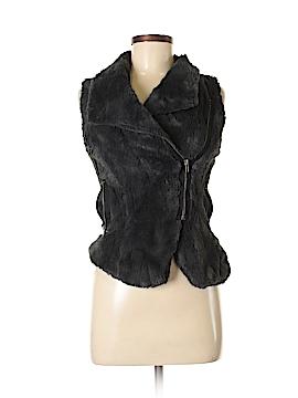 Material Girl Faux Fur Vest Size M