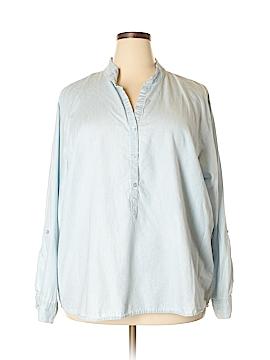Bandolino Long Sleeve Button-Down Shirt Size XXL