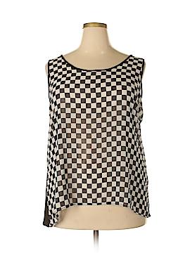 Dots Sleeveless Blouse Size 3X (Plus)