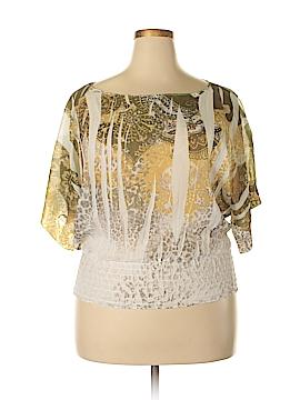 Caren Sport 3/4 Sleeve Blouse Size 1X (Plus)