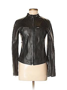 Vera Pelle Faux Leather Jacket Size 42 (EU)