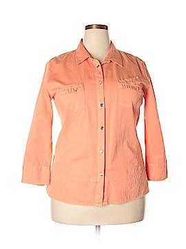 Dismero Long Sleeve Button-Down Shirt Size 3X (Plus)
