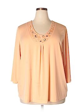 Susan Graver 3/4 Sleeve Blouse Size 2X (Plus)
