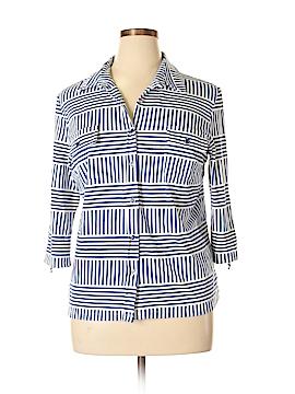 J. McLaughlin 3/4 Sleeve Button-Down Shirt Size XL