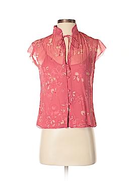 City DKNY Short Sleeve Silk Top Size 2
