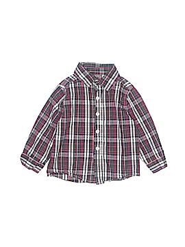 Boyz Wear By Nannette Long Sleeve Button-Down Shirt Size 24 mo