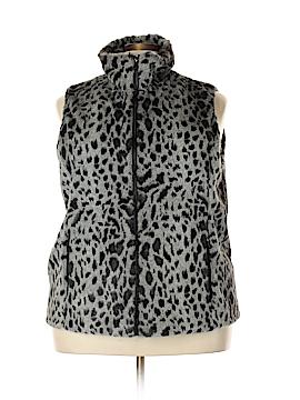 Calvin Klein Faux Fur Vest Size 2X (Plus)
