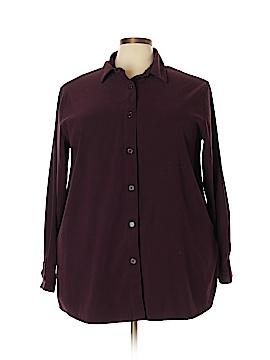 August Max Woman Long Sleeve Button-Down Shirt Size 2X (Plus)