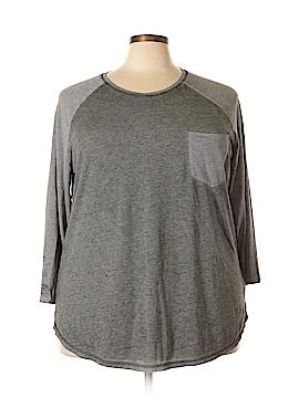 Danskin Now Long Sleeve T-Shirt Size 4X (Plus)
