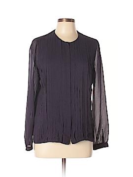 AKRIS Long Sleeve Silk Top Size 10