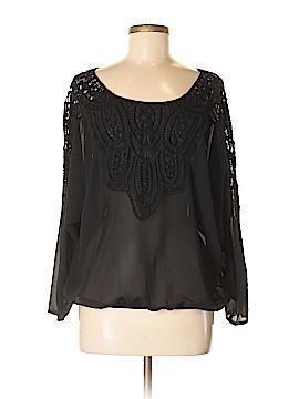 Ya 3/4 Sleeve Silk Top Size M