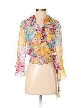 Ralph Lauren Collection 3/4 Sleeve Silk Top Size 4