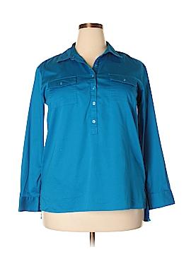 Dana Buchman Long Sleeve Button-Down Shirt Size XL