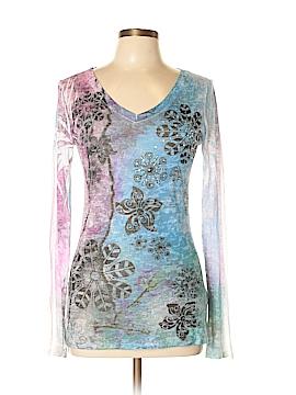 INC International Concepts Long Sleeve Top Size L