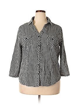 Caren Sport Long Sleeve Button-Down Shirt Size 3X (Plus)