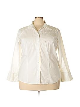 Nicole Miller Long Sleeve Button-Down Shirt Size 22 (Plus)
