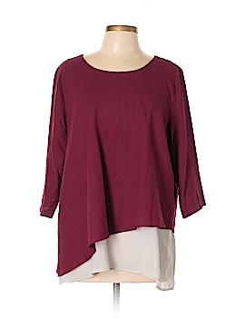 Soft Surroundings 3/4 Sleeve Top Size L (Petite)