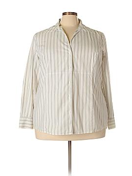 Charter Club Long Sleeve Button-Down Shirt Size 22W (Plus)