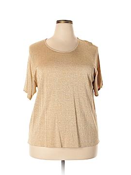 Linda Allard Ellen Tracy Short Sleeve Top Size 3X (Plus)