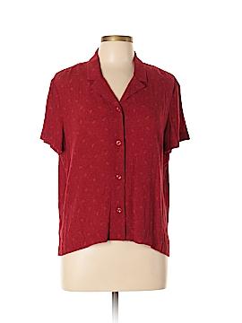 Norton McNaughton Short Sleeve Button-Down Shirt Size XL (Petite)