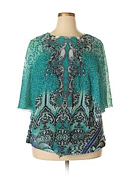CB Short Sleeve Blouse Size 1X (Plus)