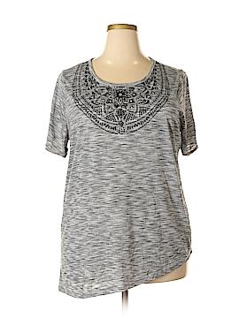 Silverwear Short Sleeve Top Size 1X (Plus)