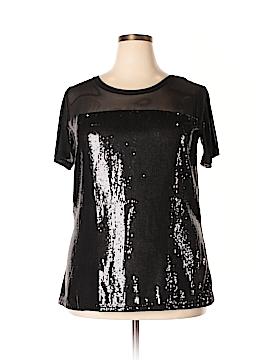 Ruby Ribbon Short Sleeve Blouse Size XXL