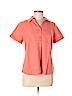 Kim Rogers Women Short Sleeve Button-Down Shirt Size M