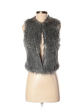 Kate Moss for Topshop Faux Fur Vest Size 8