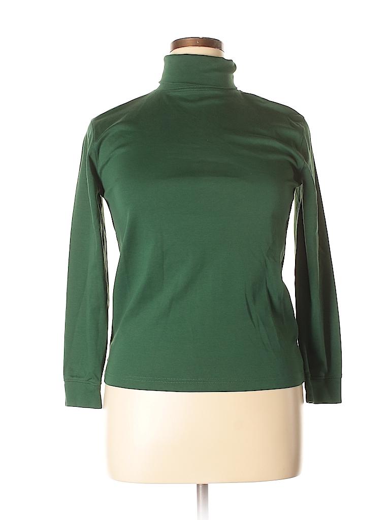 L.L.Bean Women Long Sleeve Turtleneck Size 18 (Plus)