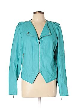 Bisou Bisou Faux Leather Jacket Size L