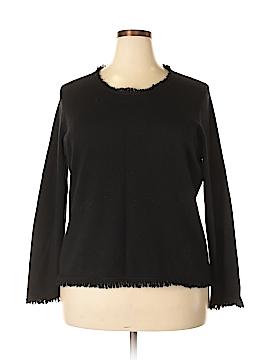 Oscar by Oscar De La Renta Silk Pullover Sweater Size 1X (Plus)
