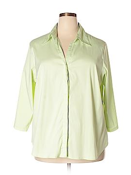 Giorgio Fiorlini 3/4 Sleeve Button-Down Shirt Size 22 (Plus)