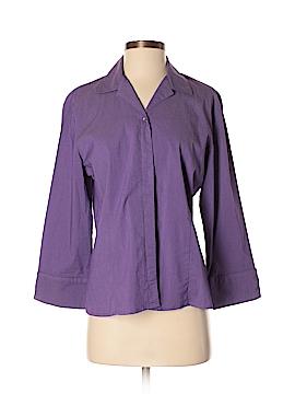 Kathie Lee Long Sleeve Button-Down Shirt Size M