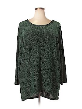 Denim 24/7 Long Sleeve Top Size 1X (Plus)