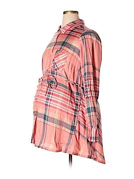 Motherhood Long Sleeve Button-Down Shirt Size L (Maternity)